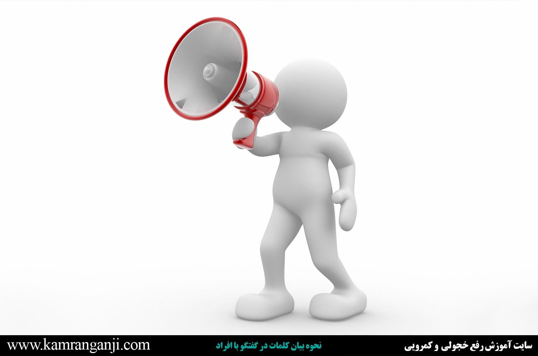 نحوه بیان کلمات در گفتگو با افراد نحوه بیان کلمات در گفتگو با افراد نحوه بیان کلمات در گفتگو با افراد