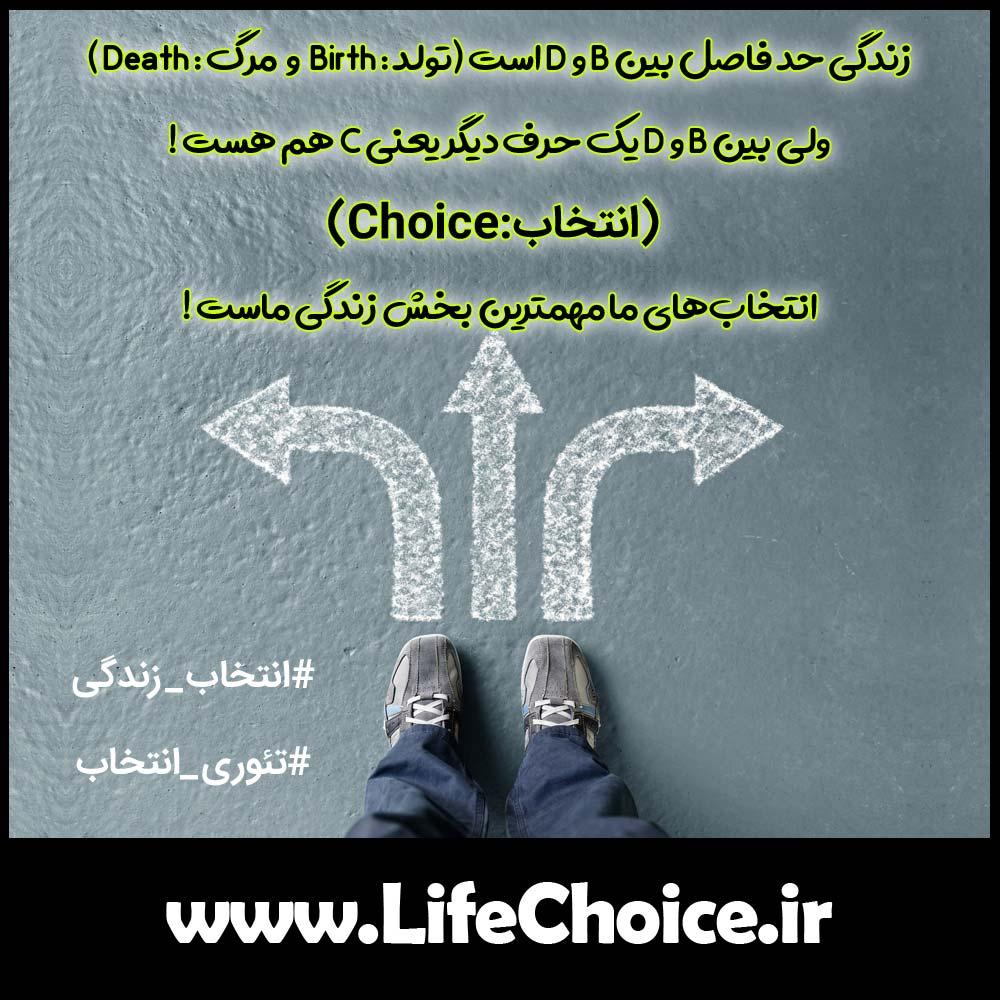 انتخاب در زندگی [object object] فاصله میان تولد تا مرگ